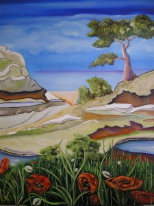 Landschaft a. d. Ostsee Acryl a. Leinwand 80x100 600 €