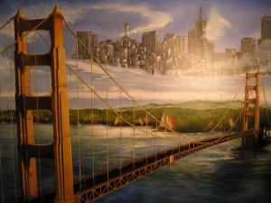 Golden-Gate Acryl a. Leinwand ca 140x90 cm 800 €
