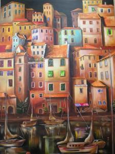 Am Hafen Acryl a. Leinwand 60x80 cm 550 €
