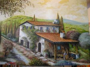Haus vom alten Korbmacher Acryl a. Leinwand ca 130x90 cm 800 €
