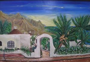 Gran Canaria Öl a.Holzplatte ca 50x40 cm 250 €