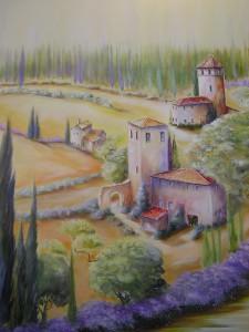 Häuser in Italien Acryl a. Leinwand 70x100 cm 600 €