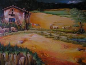Erntezeit Acryl a. Leinwand 10x70 cm 700 €